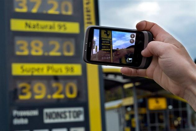 Ceny benzinu, ilustra�ní foto (20. dubna 2012, Praha)