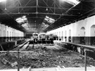 Stavba stanovi�t� kontroln�ch prohl�dek v roce 1971