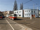 Dv�r vozovny s provozn� budovou z roku 1999. (Sou�asn� stav.)