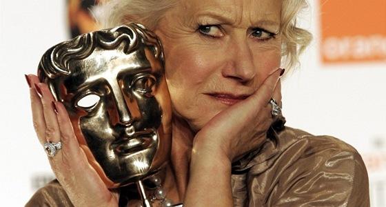 Helen Mirrenová s cenou BAFTA