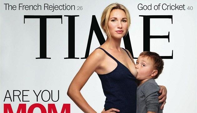 Jamie Lynne Grumetová na obálce �asopisu Time kojí svého �ty�letého syna.