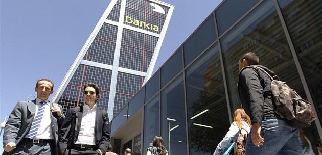 �pan�lsko zestátní tém�� polovinu finan�ního ústavu Bankia. Ilustra�ní snímek