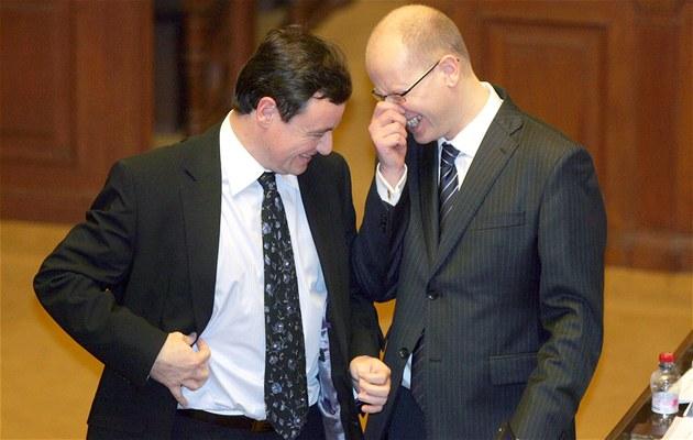 Bohuslav Sobotka a David Rath v Poslanecké sn�movn�