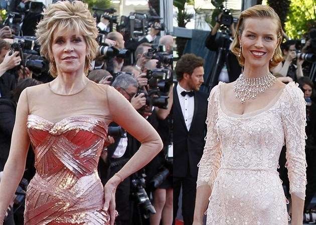 Jane Fondov&#225; a Eva Herzigov&#225; v Cannes