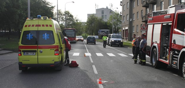 Nehoda v Ladov� ulici v Olomouci, p�i které nám�stek olomouckého primátora Ivo