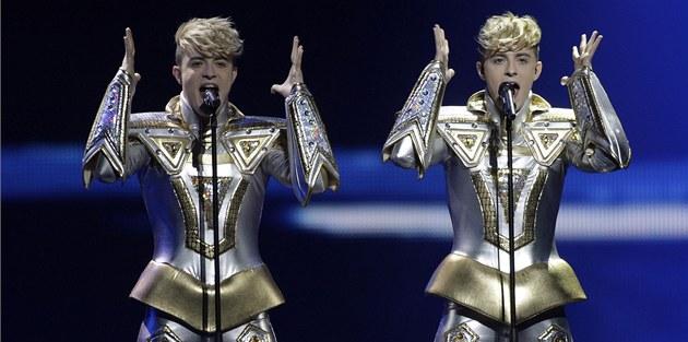 Na Eurovizi vystoupila i irská skupina Jedward. (22. kv�tna 2012)