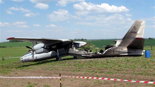 Na leti�ti u �áslavi havaroval p�i p�istání ruský vojenský letoun a za�al