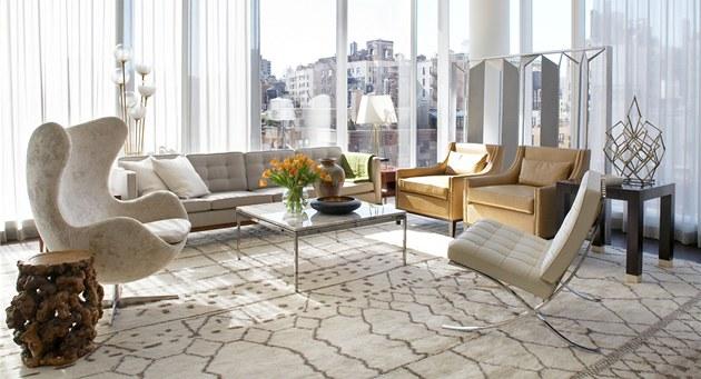 V obývacím pokoji je nap�íklad i ikonické k�eslo Egg Chair od Arne Jacobsena