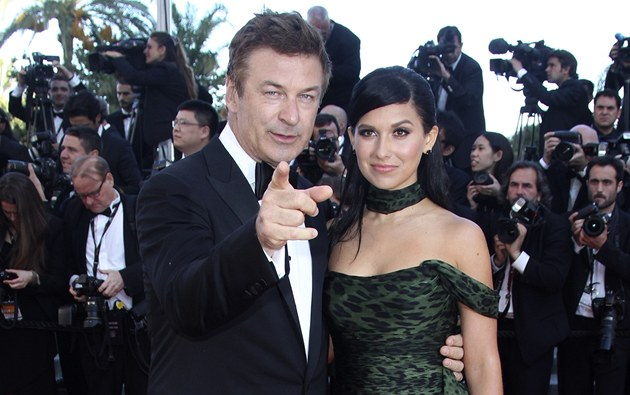 Alec Baldwin a Hilaria Thomasov&#225; (Cannes 2012)