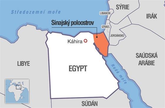 MAPA: Sinajsk� poloostrov