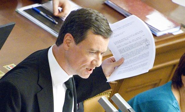 Vystoupení Davida Ratha p�i jednání Poslanecké sn�movny o jeho vydání k