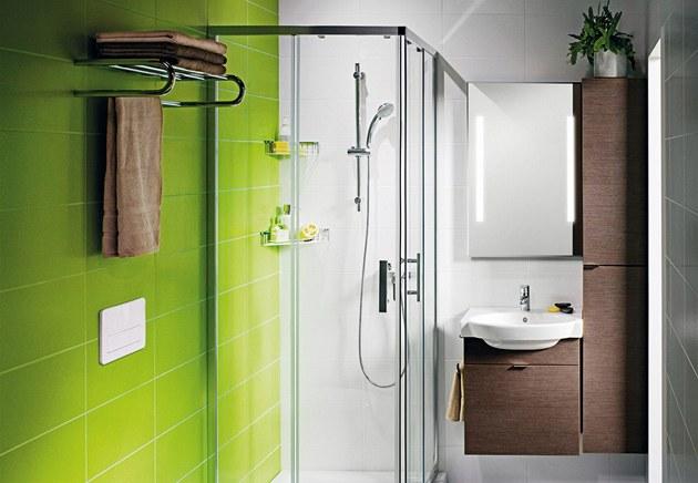 Koupelna v paneláku m�e vypadat i takto.
