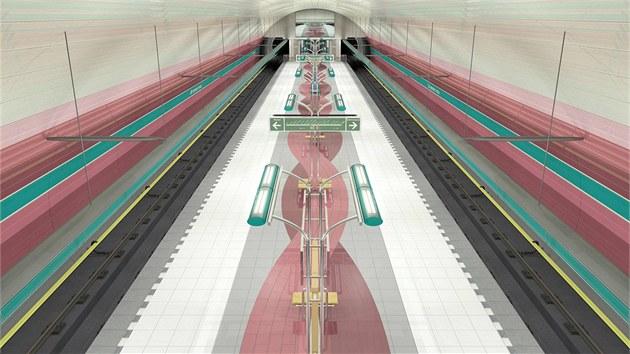 Vizualizace nové stanice �ervený vrch, která bude sou�ástí �estikilometrového