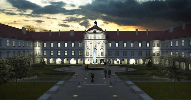 Vizualizace: Takto m�l po rekonstrukci vypadat zámek Bu�t�hrad na Kladensku.