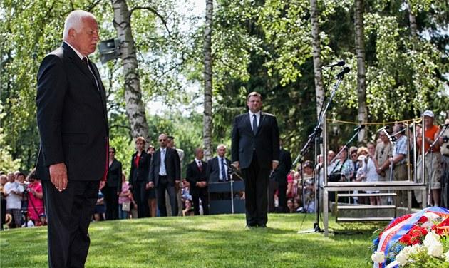 Prezident Václav Klaus na 70. výro�í vypálení Le�ák� (24. �ervna 2012)