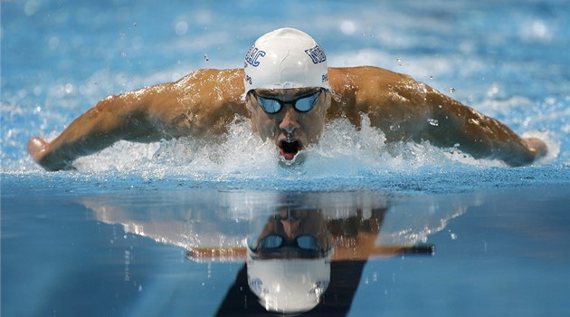 PORTR&#201;T PLAVECK&#201;HO G&#201;NIA. Michael Phelps pi americk&#233; olympijsk&#233; kvalifikaci v