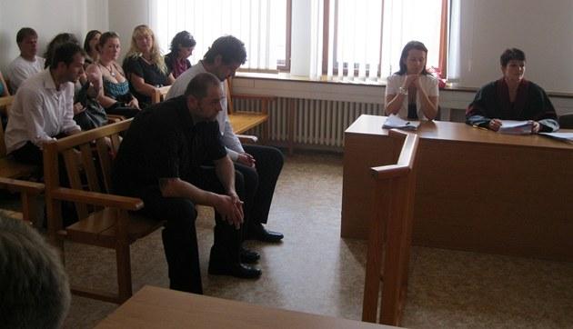 Ob�alovaní Martin a Roman Bártlovi u Krajského soudu v Plzni.