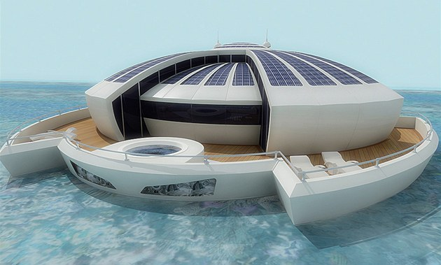 Ekologick&#253; plovouc&#237; hotel (Solar Floating Resort ) na sol&#225;rn&#237; ekologii navrhl...