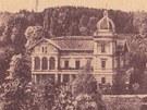 Hückelovy vily v Novém Jičíně v dobách největší slávy.