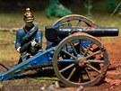 Miniatura bojiště v Muzeu války 1866 na Chlumu.