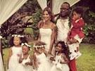 Alicia Etheredge a Bobby Brown se vzali na Havaji (18. června 2012)