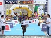 Vít�z Olomouckého p�lmaratonu 2012 Nicholas Kipkemboi z Keni.