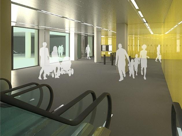 Návrh vestibulu stanice metra Národní t�ída.