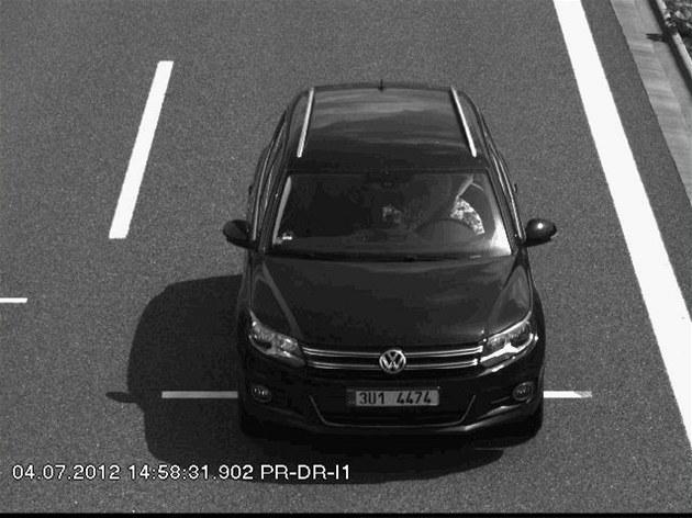 Pátrání po unesené Michale Janové. Auto, kterým jel únosce.