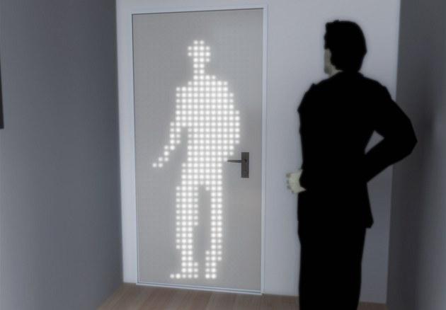 Inteligentní dve�e fungují na základ� LED technologie, která snímá pohyby