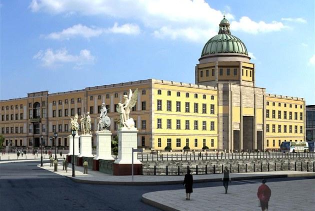 Stavba repliky n�kdej�ího sídla pruských panovník� s t�emi barokními a jednou