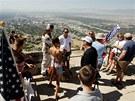 Mormonští dezertéři na hoře Ensign nedaleko Salt Lake City (1. července 2012)