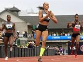 VÍT�ZKA. Allyson Felixová zab�hla v americké olympijské kvalifikaci v Eugene na