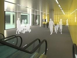 N�vrh vestibulu stanice metra N�rodn� t��da.