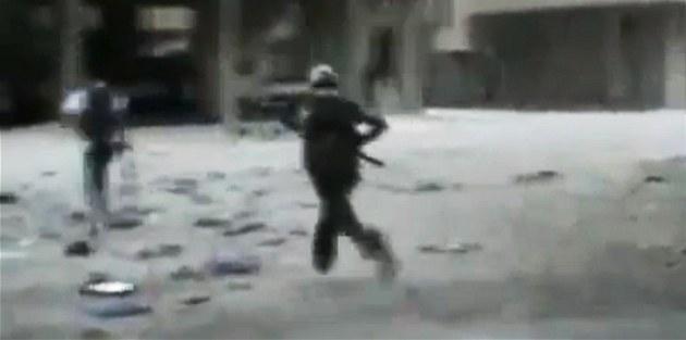 Bitvu o Dama�ek zachytili povstalci na amatérských záb�rech