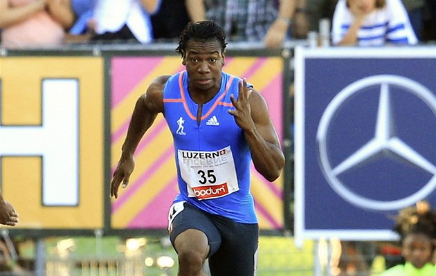 Yohan Blake na m&#237;tinku v Lucernu, kde se bl&#253;skl v&#237;tzstv&#237;m v z&#225;vod na sto