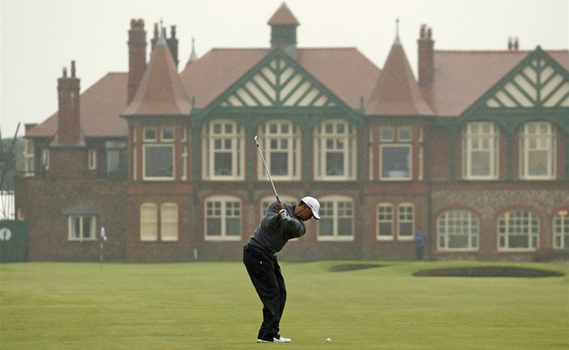 Tiger Woods na hiti Royal Lytham &amp; St. Annes