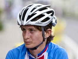 Rychlobruslařka Martina Sáblíková během cyklistického závodu Tour de Feminin.