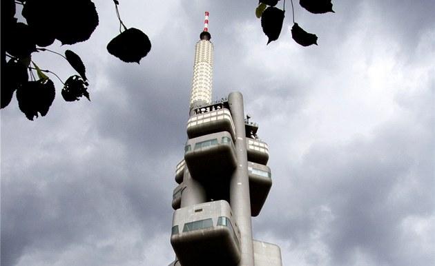 Vysílač Praha Žižkov, odkud je šířeno experimentální vysílání