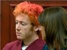 James Holmes podezřelý ze střelby v denverském kině působil před soudem ospale a nepřítomně (23. července 2012)