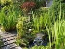 Malá vodní fontánka vytváří pohledově atraktivní prvek, navíc je slyšet i obývacího pokoje.
