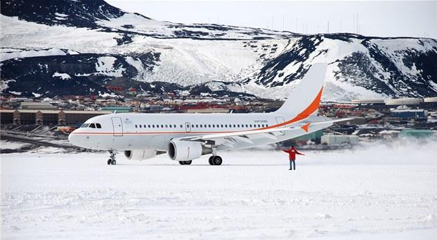 Airbus australské organizace  Australian Antarctic Division na ledové