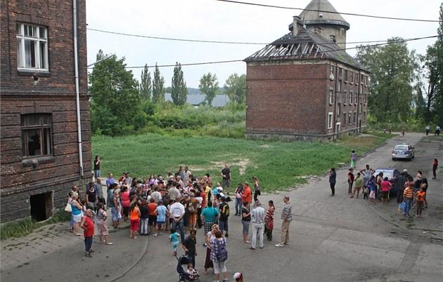 Romské ghetto Přednádraží v Ostravě-Přívozu.