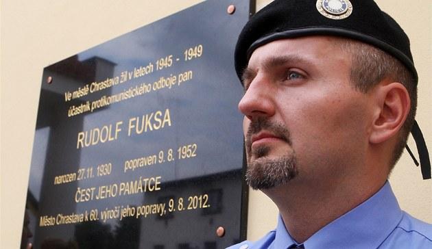 Odhalení pam�tní desky Rudolfa Fuksy v Chrastav�