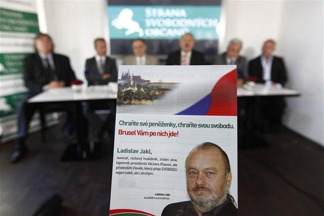 TK Strany svobodných ob�an�. Kandidát na prezidenta Jakl nep�i�el.