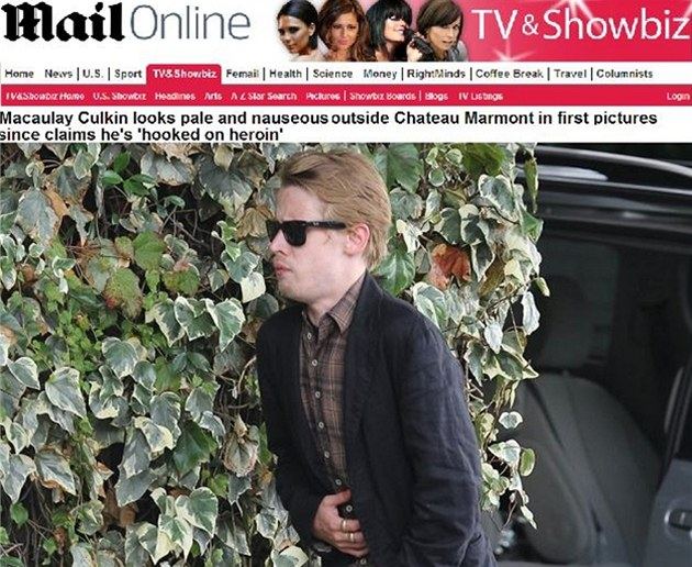 Macaulay Culkin pi odchodu z Chateau Marmont v Los Angeles (srpen 2012)