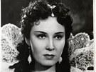 Výstava filmů Vítězslava Tichého na zámku v Napajedlích. Lída Baarová ve filmu Dívka v modrém (1940).