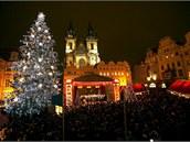 Váno�ní strom na Starom�stském nám�stí.