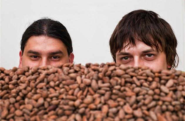 Výrobci pravé �okolády Luká� Koudelka (vlevo) a Ji�í Stejskal (vpravo) s
