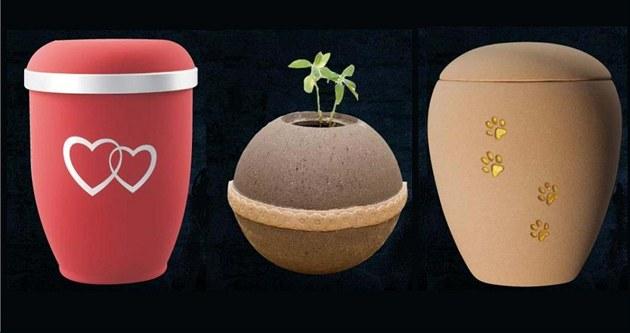 Ekologické a designové urny jsou stále populárn�j�í.