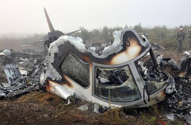 Letadlo spole�nosti Henan Airlines p�i nehod� na severovýchod� �íny tém�� celé